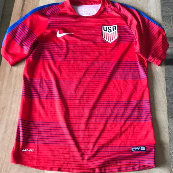 debaca2ecfd Like New Nike Dri-Fit USA soccer jersey! M_5c3ddd4245c8b38186d70ece. Other  Shirts you may like. Men's Red Nike Tee